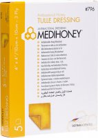 Produktbild von Medihoney Medical Honey Tuell 10x10cm Anti St 5 Stück