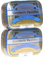 Grether's Pastilles Blackcurrant Zuckerfrei Duopack 2x 110g
