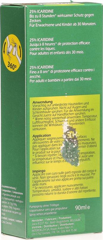 parazeet zecken schutz 25 icaridin spray 90ml in der. Black Bedroom Furniture Sets. Home Design Ideas
