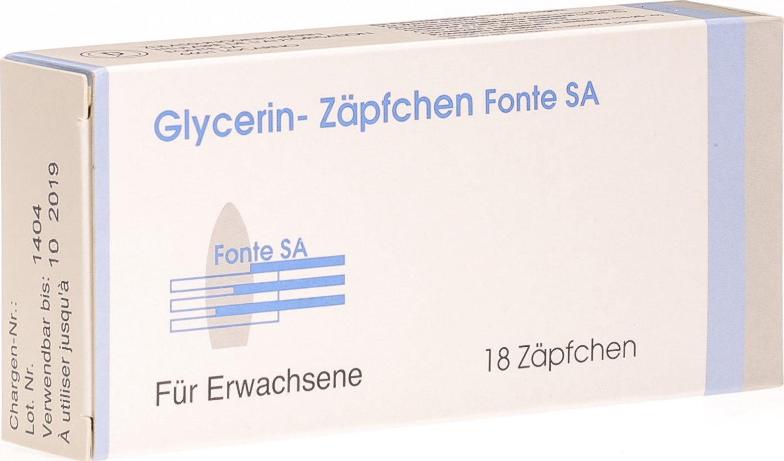 Glycerinzäpfchen Fonte für Erwachsene 18 Stück in der