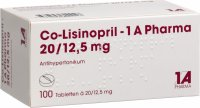 Co Lisinopril 1a Pharma Tabletten 20/12.5 100 Stück