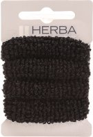 Product picture of Herba Hair Tie 4cm Terry Cloth Black 4 Pieces