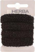 Image du produit Herba Cravate pour Cheveux 4cm Éponge Noire 4 Pièces