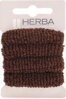 Image du produit Herba Cravate pour Cheveux 4cm Éponge Marrones 4 Pièces