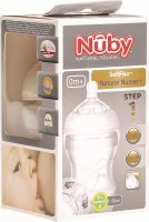 Nûby SoftFlex Natural Nurser Weithalsflasche Silikon 150ml