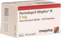 Image du produit Perindopril Mepha N Lactabs 5mg Dose 30 Stück