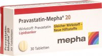Image du produit Pravastatin Mepha Tabletten 20mg 30 Stück