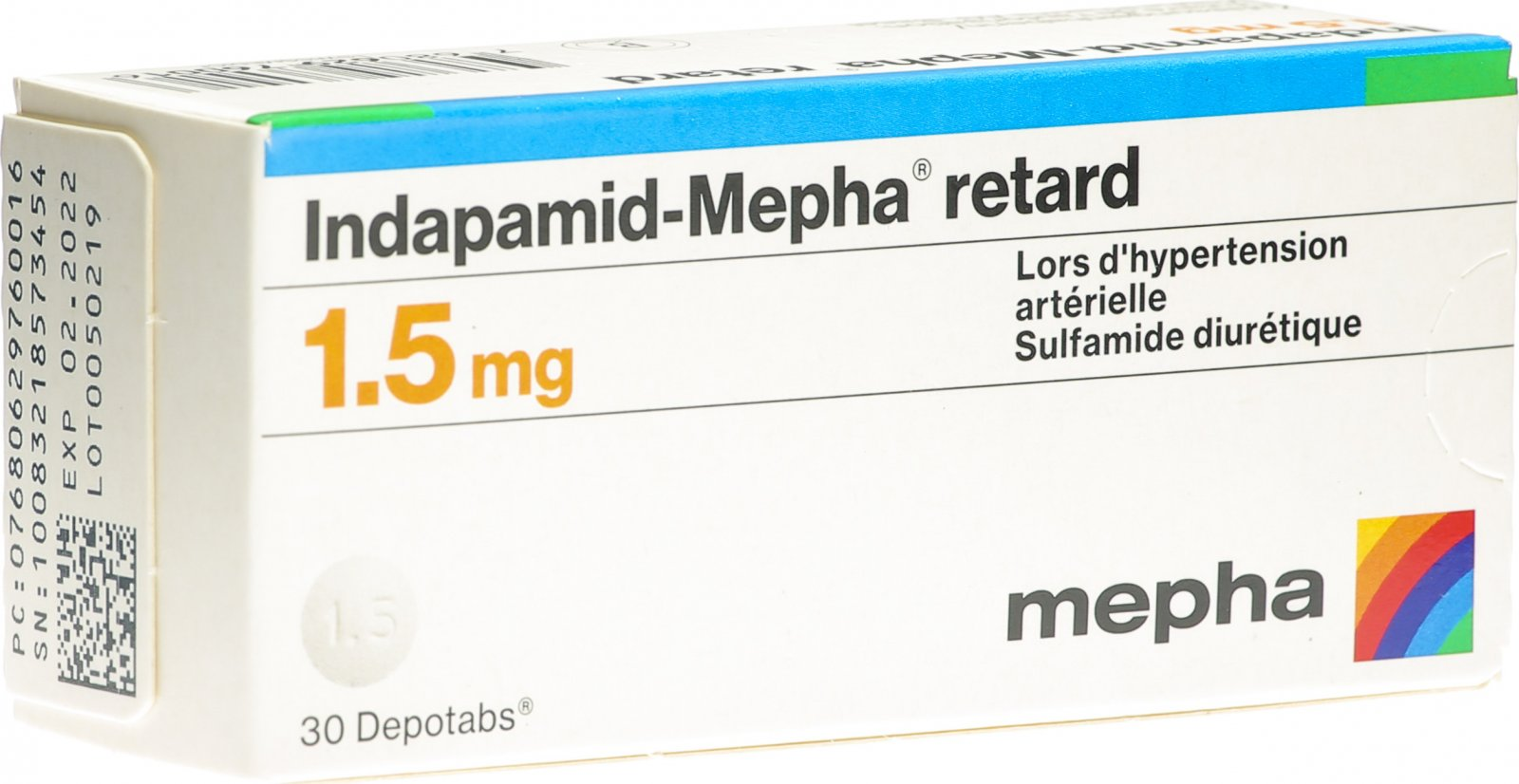 Indapamid Mepha Retard Depotabs 20.20mg 20 Stück in der Adler Apotheke