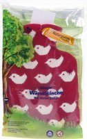 Image du produit Sänger Bouillotte 0.8L Housse tricotée Bébé Oiseaux rouges