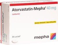 Image du produit Atorvastatin Mepha Lactabs 40mg 30 Stück