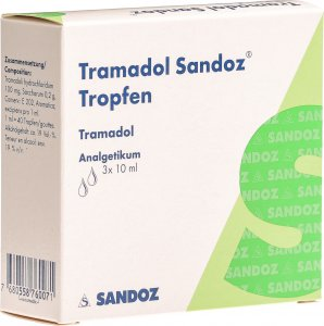 Image du produit Tramadol Sandoz Tropfen 100mg/ml 3 Flasche 10ml