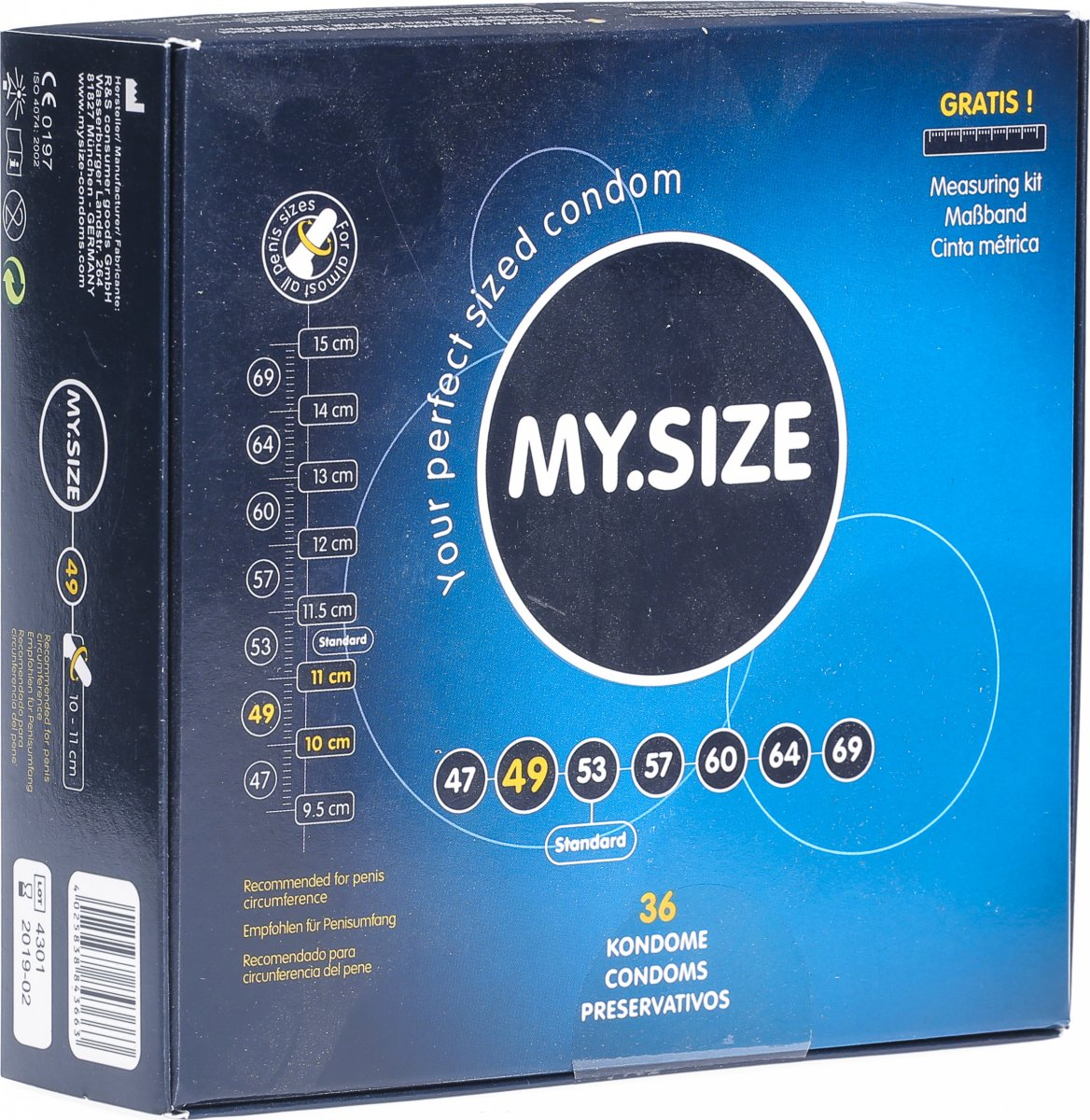 size kondom