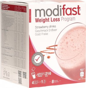 Produktbild von Modifast Weight Loss Program Drink Erdbeer 8x 55g