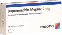 Buprenorphin Mepha Subling Tabletten 2mg 7 Stück