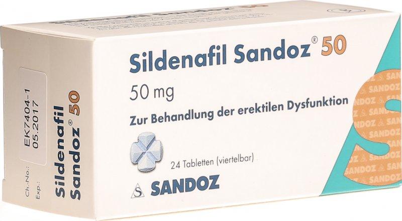 Sildenafil Sandoz Tabletten 50mg 24 Stück in der Adler