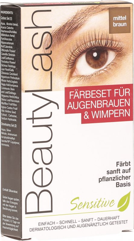 Beautylash Sensitive Faerbeset Mittelbraun D In Der Adler Apotheke