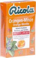 Image du produit Ricola Orangen-Minze Kräuterbonbons ohne Zucker Box 50g