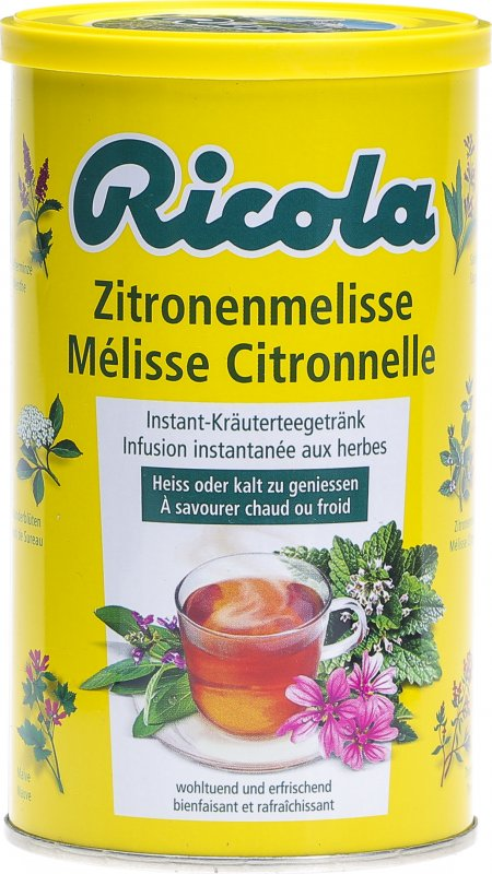 ricola instant zitronenmelisse tee dose 200g in der adler apotheke. Black Bedroom Furniture Sets. Home Design Ideas