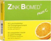 Zink Biomed Plus C Lutschtabletten Orange 50 Stück