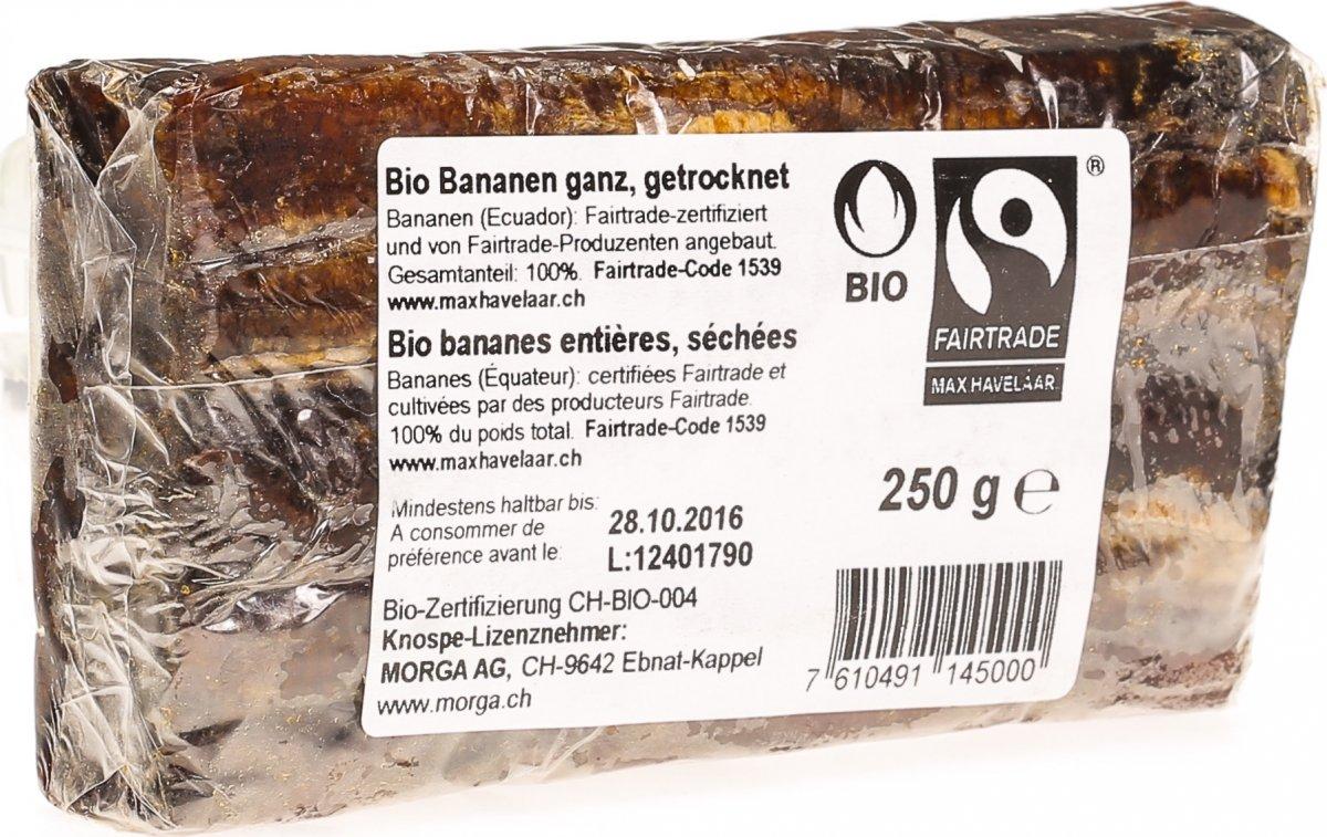 Gemeinsame Morga Bananen Ganz Getrocknet Bio Fairtrade 250g in der Adler Apotheke @NI_29