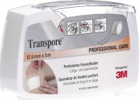 3M Transpore Fixierpflaster 12.5mm x 5m transparent