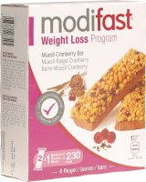 Modifast Weight Loss Program Müesli-Riegel Cranberry 6x 31g