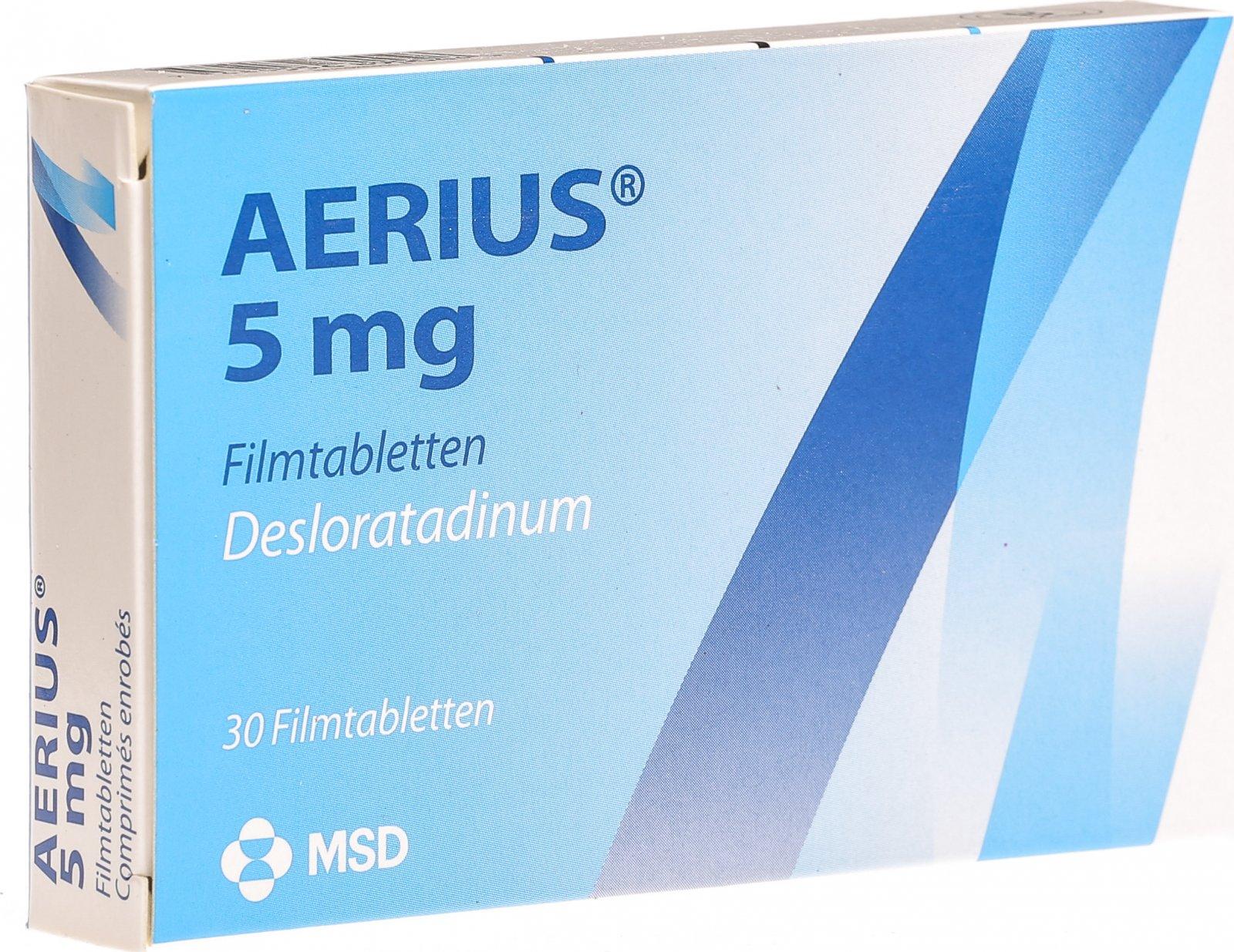 Aerius Filmtabletten 5mg 30 Stück in der Adler Apotheke