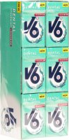 V6 Dental Care Kaugummi Spearmint Fluoride 24 Box