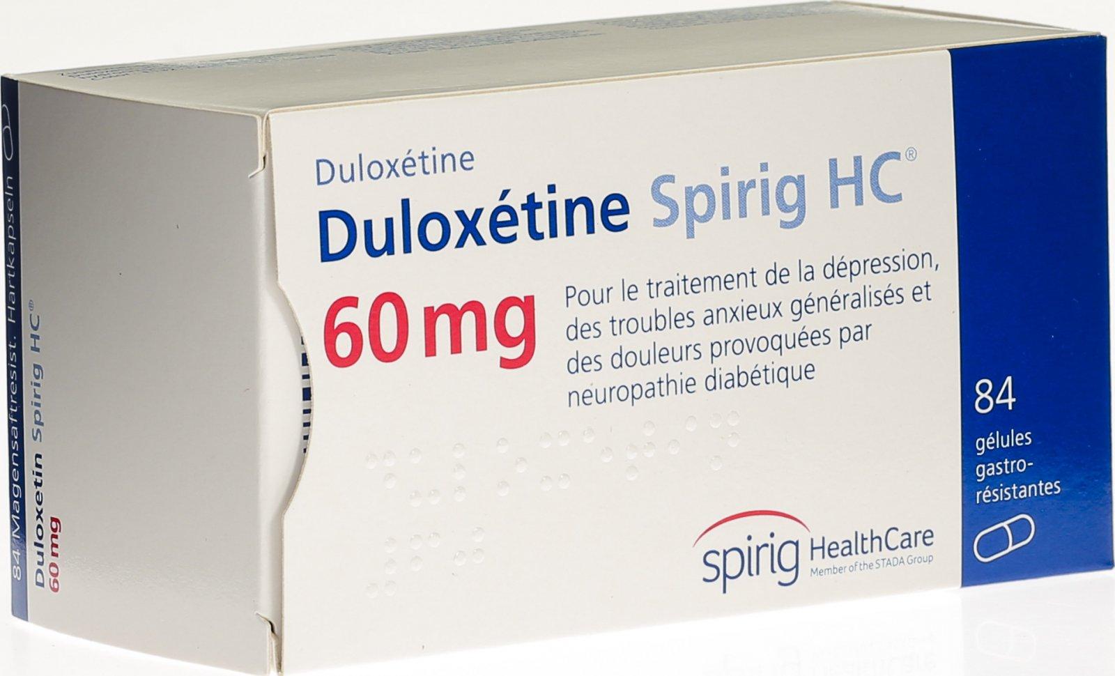 duloxetin nebenwirkungen