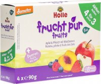 Holle Mehrfachpack Pouchy Apf&pfris Waldb 4x 90g
