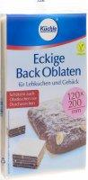 Image du produit Küchle Eckige Back Oblaten Viereckig 122x202mm 10 Stück