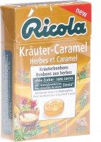 Image du produit Ricola Kräuter-Caramel mit Stevia Box 50g