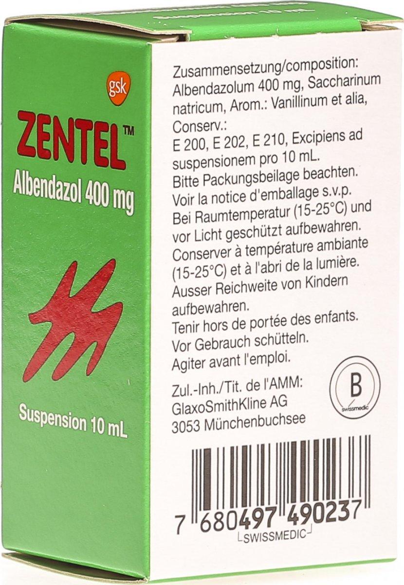 Zentel Suspension 10ml In Der Adler Apotheke