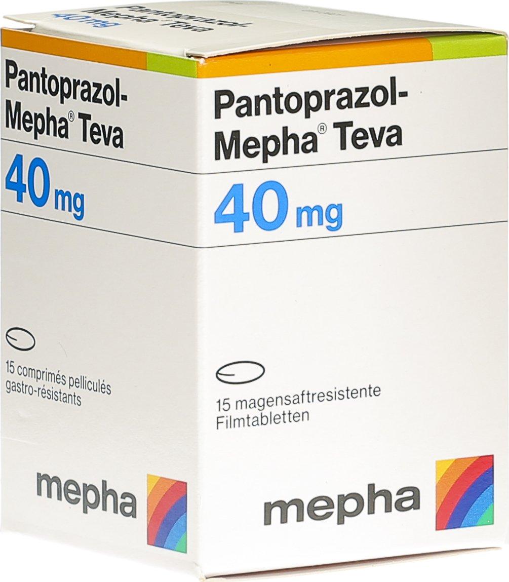 Pantoprazol Mepha Teva Filmtabletten 40mg Dose 15 Stück in