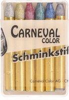 Image du produit Carneval Color Fettschminkstifte Glimmernd 6 Stück