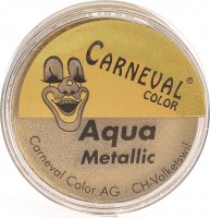 Carneval Color Aqua Make Up Metallic Gold Dose 8ml