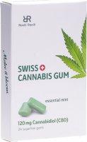 Image du produit Swiss Cannabis Gum 120mg CBD Mint 24 Stück