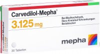 Carvedilol Mepha Tabletten 3.125mg 30 Stück