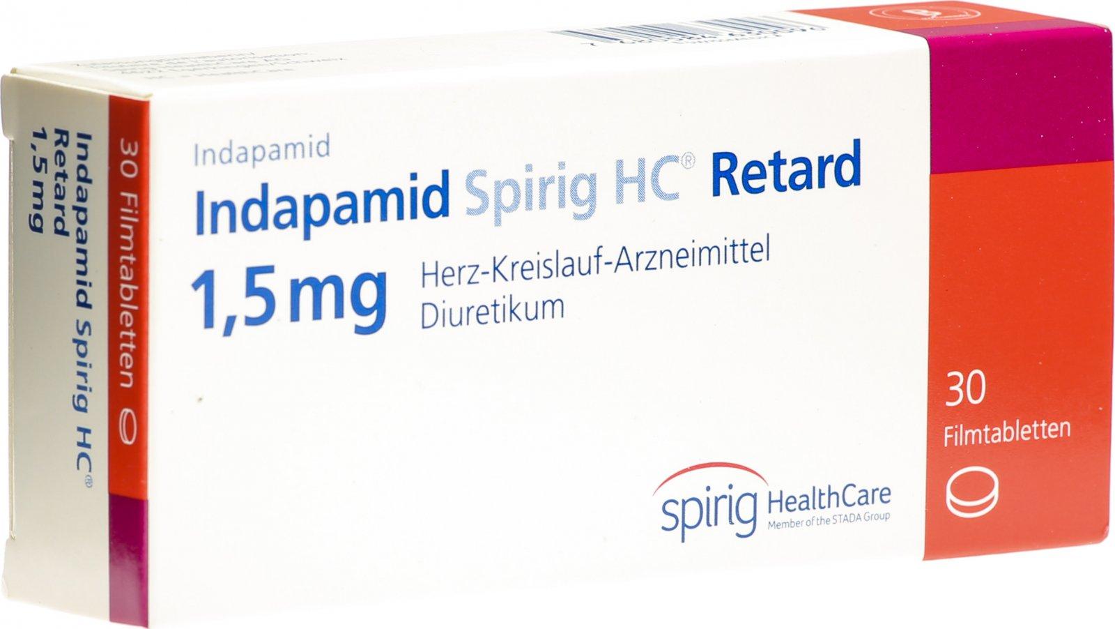 Indapamid Spirig HC Retard Filmtabletten 20.20mg 20 Stück in der ...