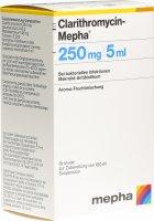 Immagine del prodotto Clarithromycin Mepha Suspension 250mg/5ml Flasche 100ml
