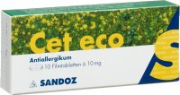 Cet Eco 10mg 10 Tabletten