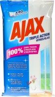 Image du produit Ajax Glas Triple Action Tuecher 40 Stück