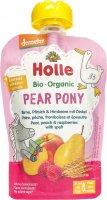 Image du produit Holle Pear Pony Pouchy Poire Pêche Framboise Blé d'épeautre 100g