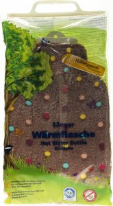 Product picture of Sänger Hot-water bottle natural rubber plush 2L dots brown