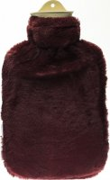 Product picture of Sänger Hot-water bottle natural rubber synthetic fur 2L Plum