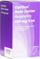 Produktbild von Optifen Dolo Junior Suspension 100mg/5ml Flasche 200ml