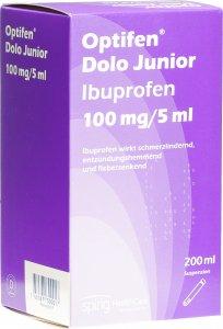 Immagine del prodotto Optifen Dolo Junior Suspension 100mg/5ml Flasche 200ml