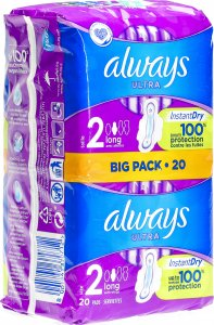 Product picture of Always Ultra Binde Long with wings Bigpack 20 pieces