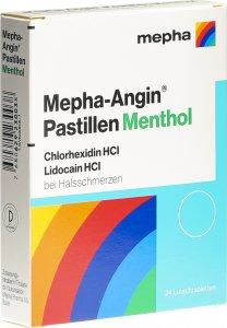 Immagine del prodotto Mepha-angin Pastillen Menthol 24 Stück