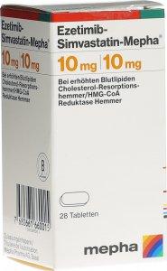 Immagine del prodotto Ezetimib-simvastatin Mepha Tabletten 10/10mg Dose 28 Stück